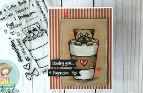 Coffee Cup Pup Card