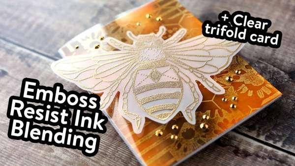 Clear Tri-Fold Bee Card