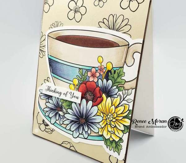 Coffee Cup Card with Digital Stamps