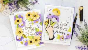 Floral Cards with Only Dies