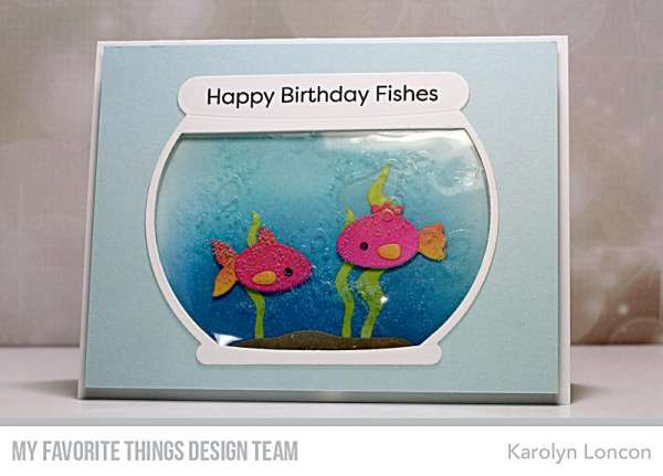 Fish Bowl Card with Hair Gel
