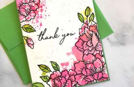 Ink Smooshing Flower Card