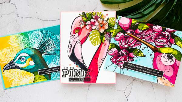 Bold Graphic Coloring for Cards