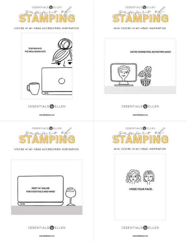 Digital Postcards Download – Stamping