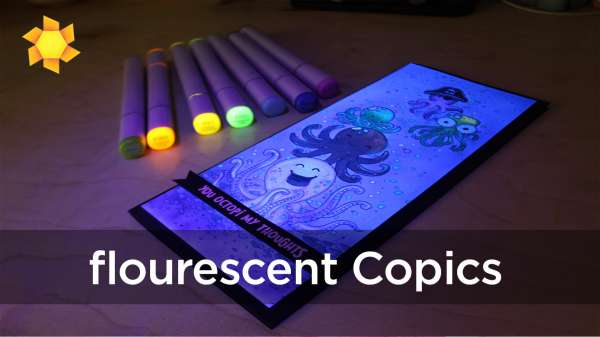 Octopus Card with Florescent Copics