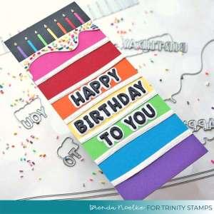 Rainbow Cake Slimline Card