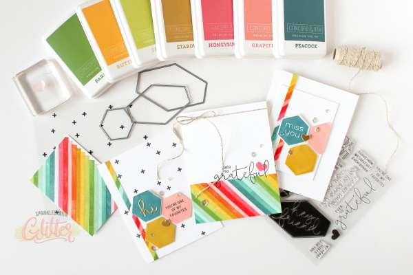 Rainbow Striped Cards