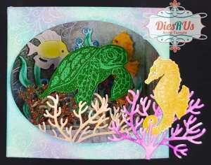 Ocean Shadow Box Card