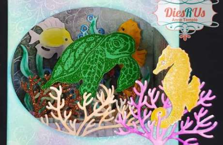 Ocean Shadow Box Card