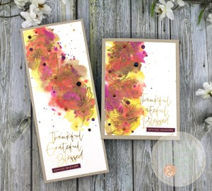 Distress Inks and Foil Cards