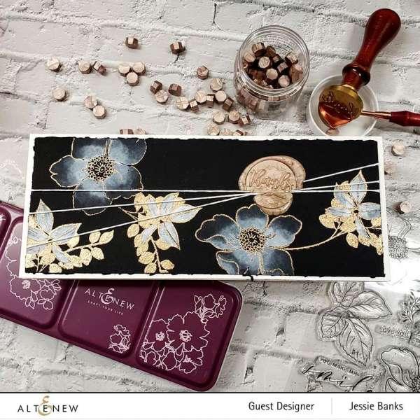 Gold Metallic on Black Slimline Card