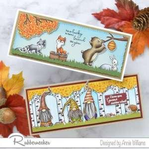 2 Fall Slimline Cards