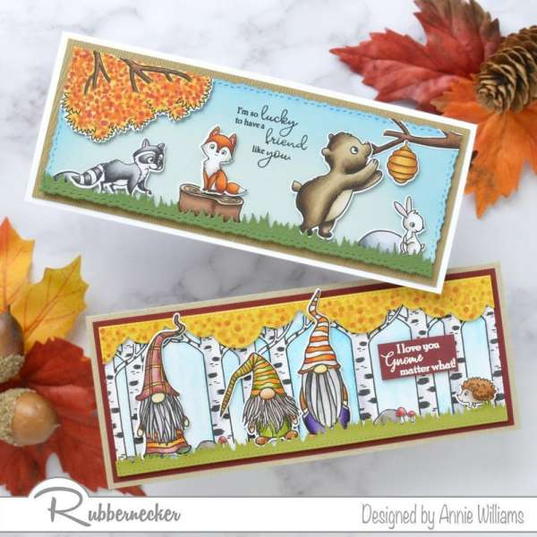 2 Fall Slimline Cards