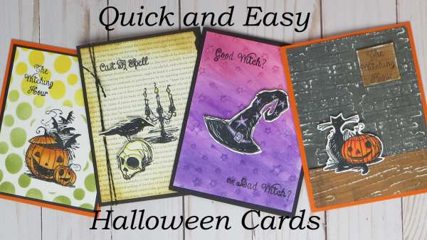 4 Quick and Easy Halloween Cards