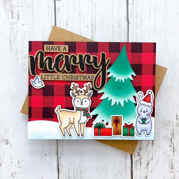 Plaid Christmas Scene Card