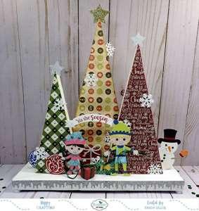 3D Paper Craft Christmas Display