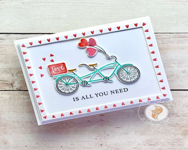 Valentine Bike Card