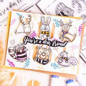 Winter Forest Friends Card