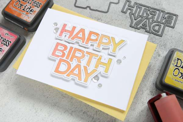 Brayered Birthday Card