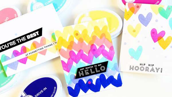 Colorful Heart Cards
