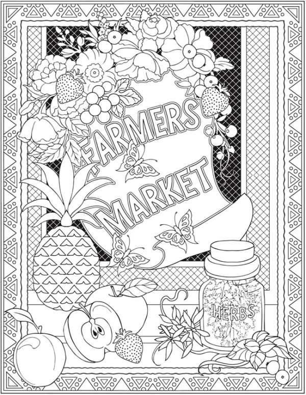 6 Farmer's Market Coloring Pages
