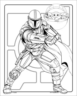 7 Star Wars Coloring Pages (including Baby Yoda!)