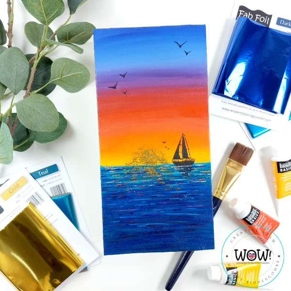 Foiled Sunset Card