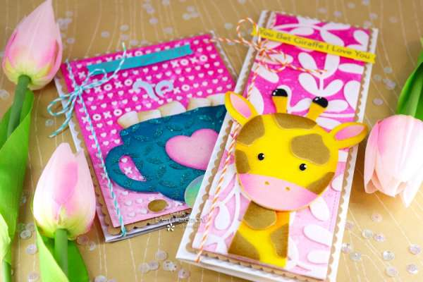 Flocked and Foiled Valentine Cards