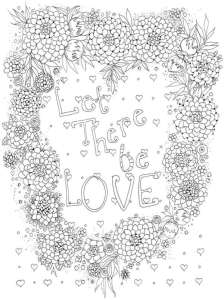 6 Love and Valentine Coloring Pages