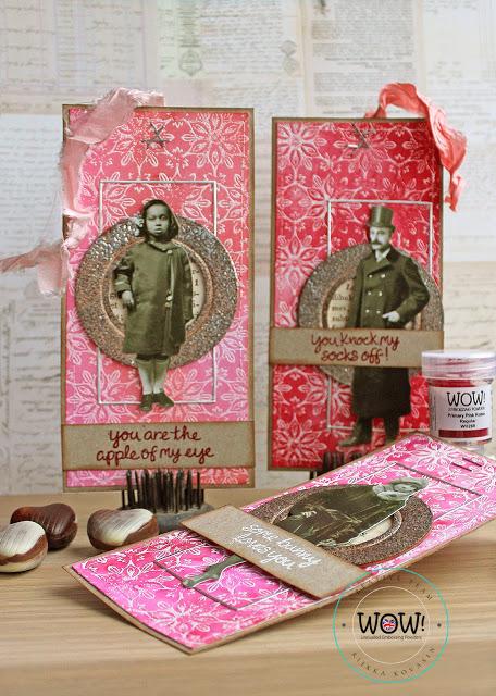 Mixed Media Valentine Cards