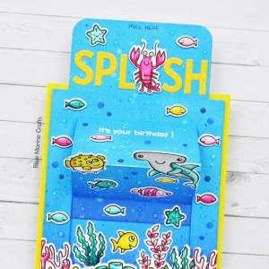 Underwater Slider Panel Pop Up Card
