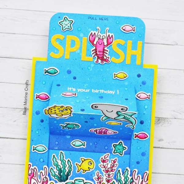 Underwater Slider Panel Pop Up Card