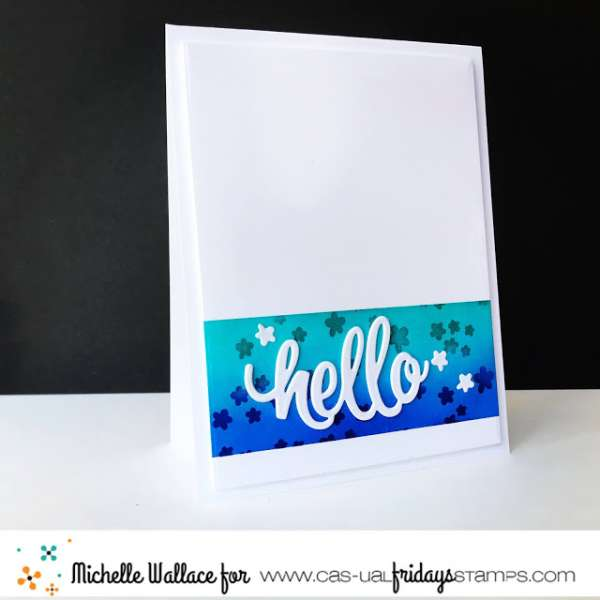 Clean and Simple Hello Card