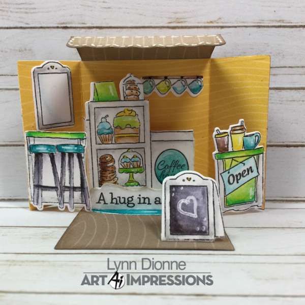 3D Mini Coffee Shop Card