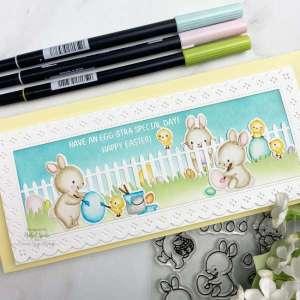 Easter Slimline Card