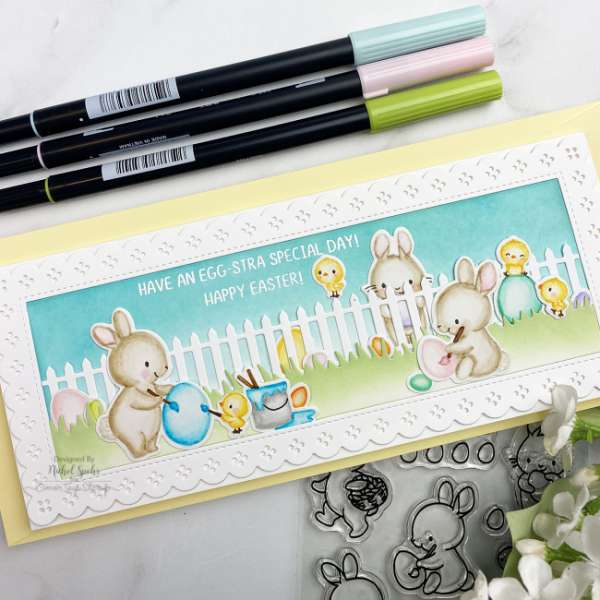 Easter Slimline Card