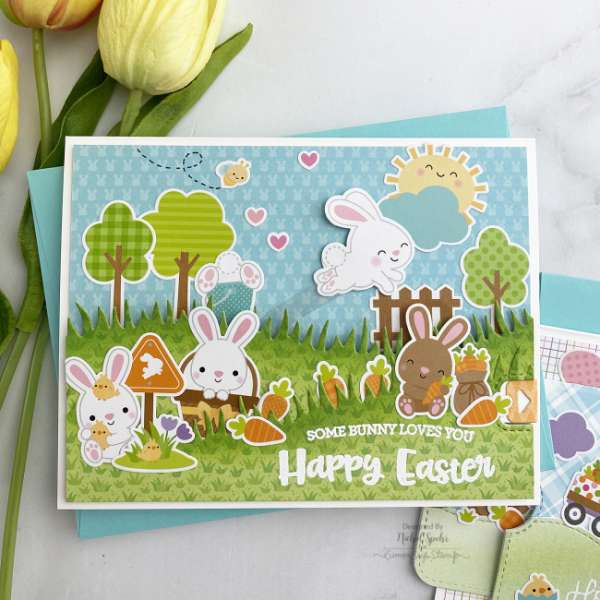 Easter Card Made with Stickers