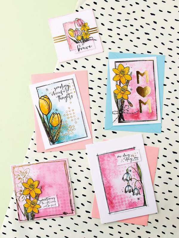 FREE Spring Flower Digital Stamps