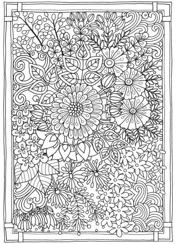 6 Entangled Garden Coloring Pages