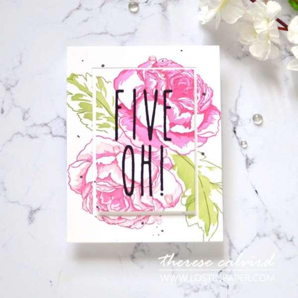 Floral 50th Birthday Card