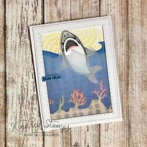 Jaws Inspiration Shark Card