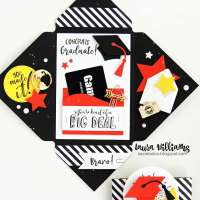 Exploding Envelope Graduation Card