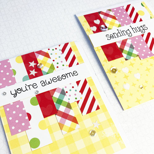 Paper Strips Cards