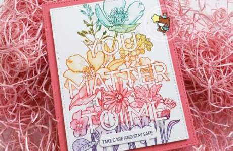 Stamping and Watercolor in One