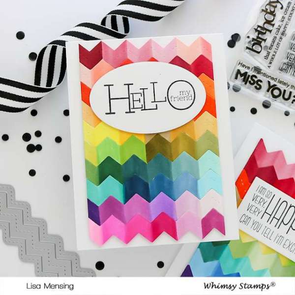 Rainbow Zig Zag Background Card