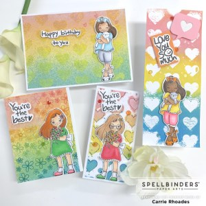Rainbow Cards w/ Distress Oxide Ink Sprays