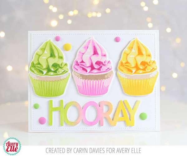 Layering Stamps Cupcake Card