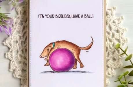 Coloring a Birthday Card with Copic Markers