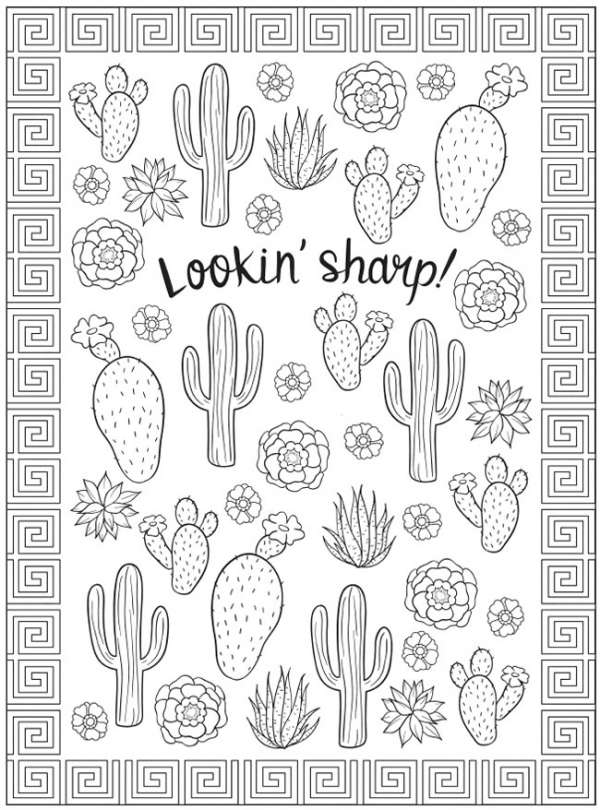6 South West Coloring Pages