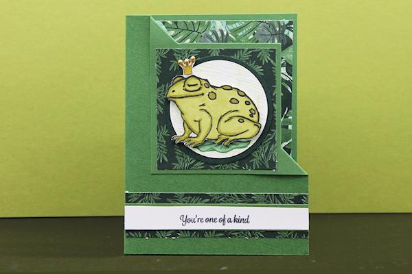 Corner Fold Frog Prince Card